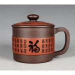 390cc,Zisha Teapot,pottery,Purple clay cup Fu tea pot