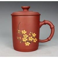 Yixing Zisha Red clay Teapot ,pottery, Plum flower pot