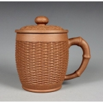450ml, Yixing Zisha clay,pot​tery,Bamboo basket teapot