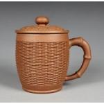 450ml, Yixing Zisha clay,pottery,Bamboo basket teapot