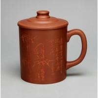 320cc, China Yixing Zisha teapot,xian yuan tea pot cup.Di Cao Qing