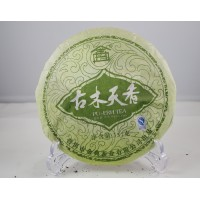 """""""Gu Mu Tian Xiang"""" Uncooked pu erh beeng,Jin Dian RAW Pu-er Tea Cake 357g"""