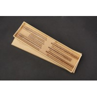 3 pairs chopsticks, Natural Wenge wood, Asia Chinese Wooden chicken-wing Kuaizi 鸡翅木筷子