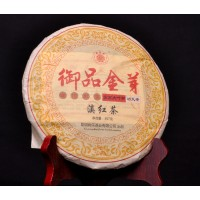 357g, Yunnan Gold bud Dian Hong BLACK TEA Cake, China Golden Tip DianHong RED Beeng 云南滇红茶饼