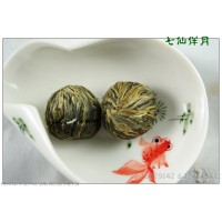 Qi Xian Ban Yue , Fairy Flower Basket ,  Blooming Flowering Flower Artistic Tea