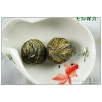 Qi Xian Ban Yue , Fairy Flower Basket ,  Blooming Flowering Flower Artistic Tea